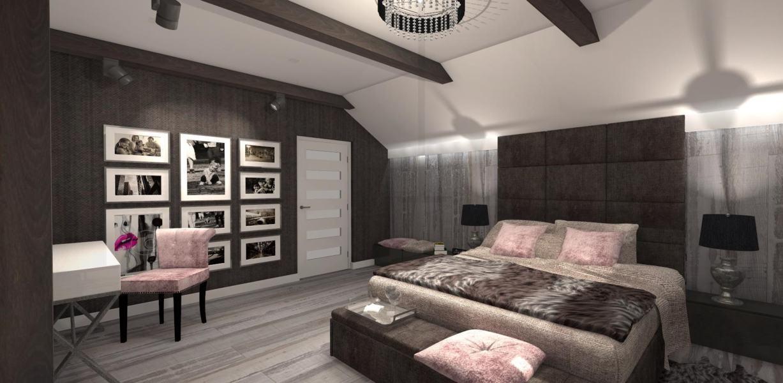 Przytulna Sypialnia Na Poddaszu Mj Design
