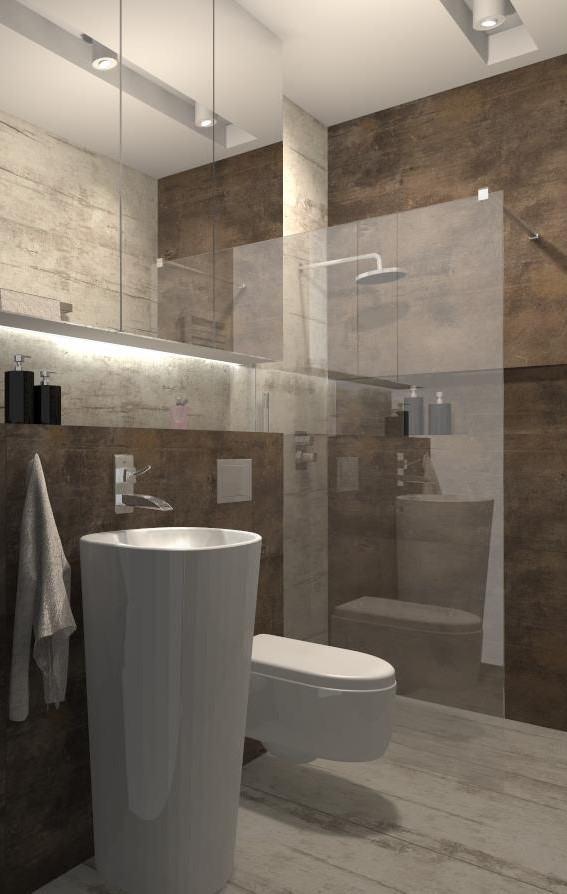 Niewielka łazienka Z Prysznicem Mj Design