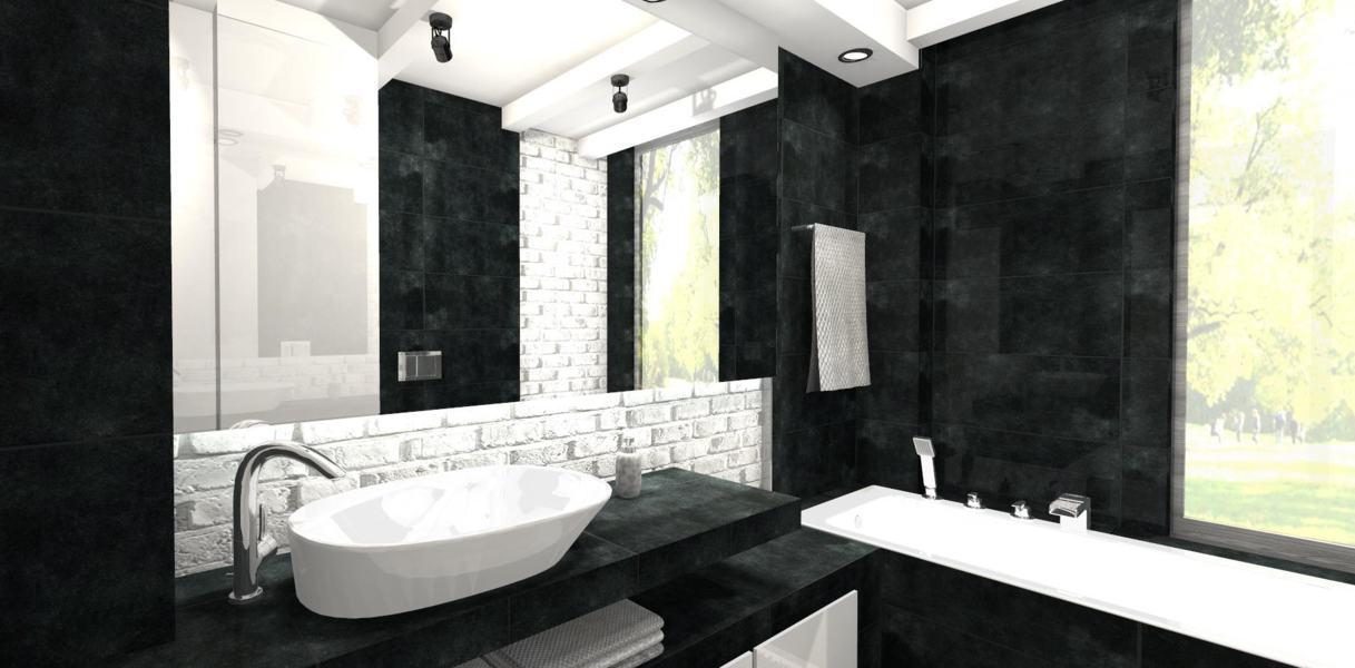 Czarno Biala Lazienka Mj Design