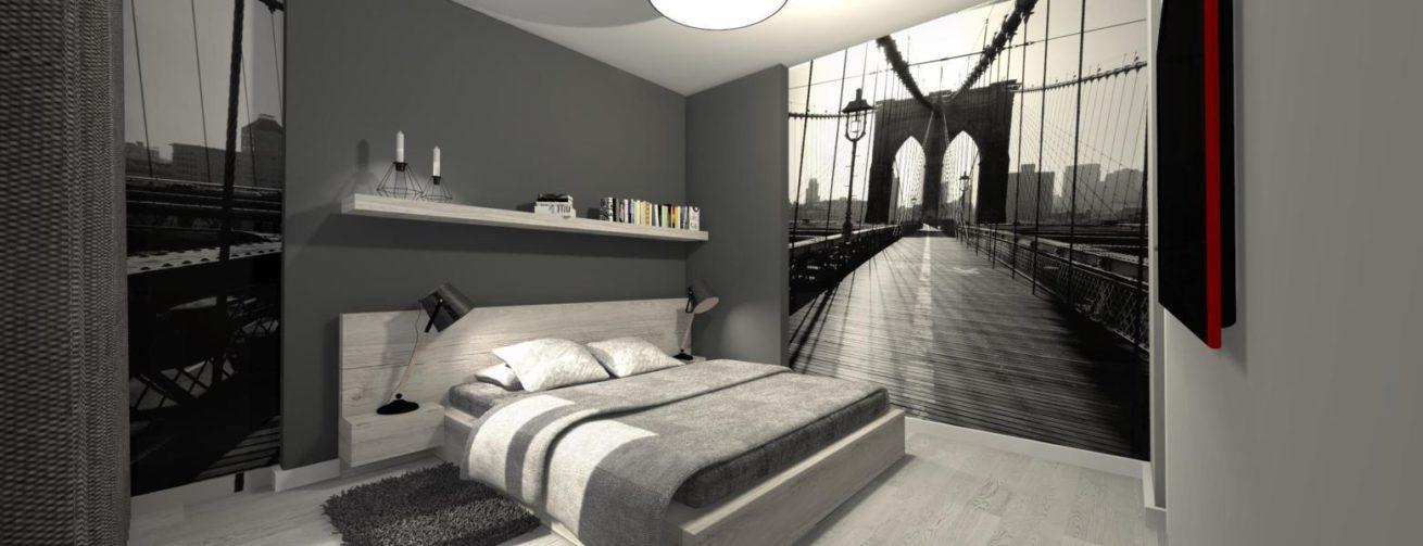 Sypialnia Z Ukrytą Garderobą Mj Design