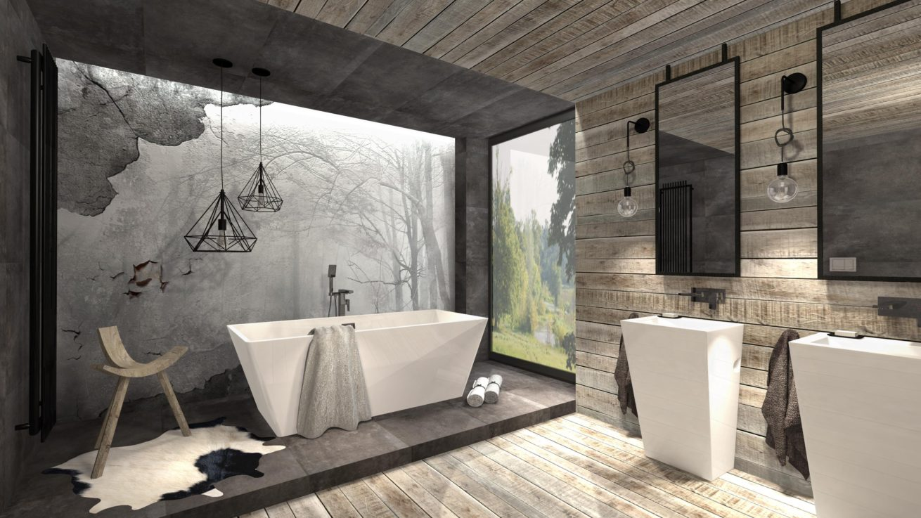 łazienka Z Wanną Wolnostojącą Mj Design