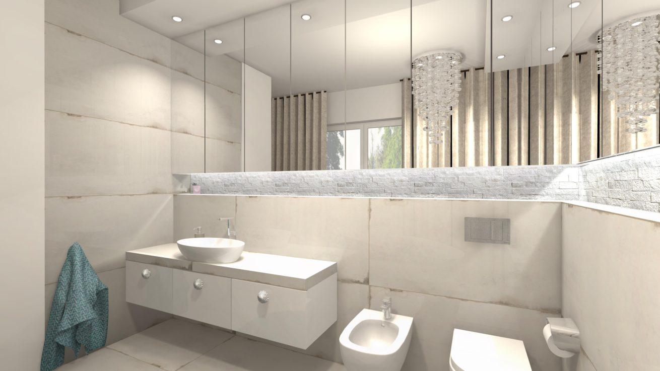 łazienka W Stylu Glamour Dom Letniskowy Mj Design